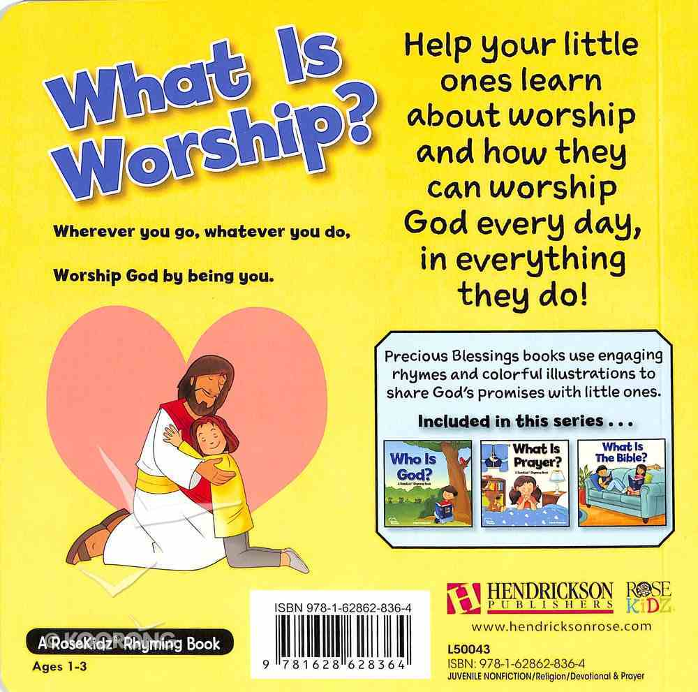 What is Worship? (Precious Blessings Series) Board Book