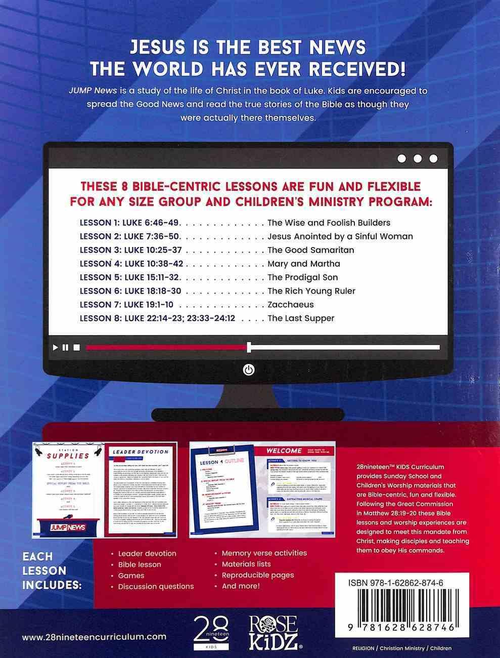 Luke Lower Elementary (Leader Guide) (Jump News Curriculum Series) Paperback