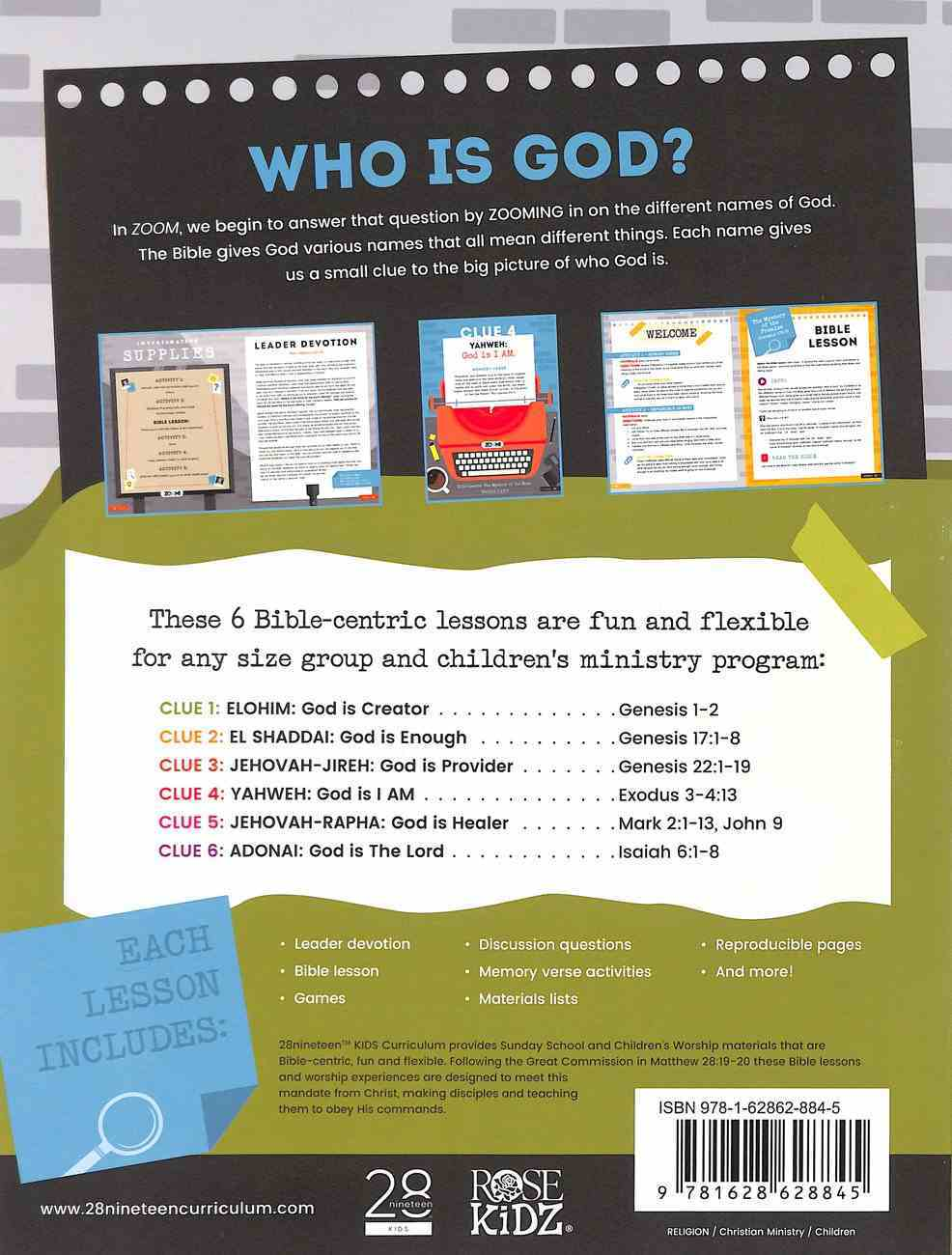The Names of God Lower Elementary (Leader Guide) (Zoom! Curriculum Series) Paperback