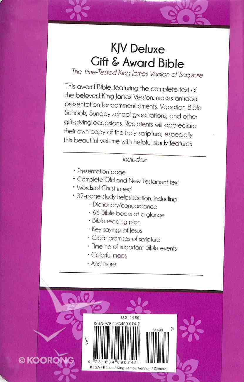 KJV Deluxe Gift & Award Bible Purple Imitation Leather