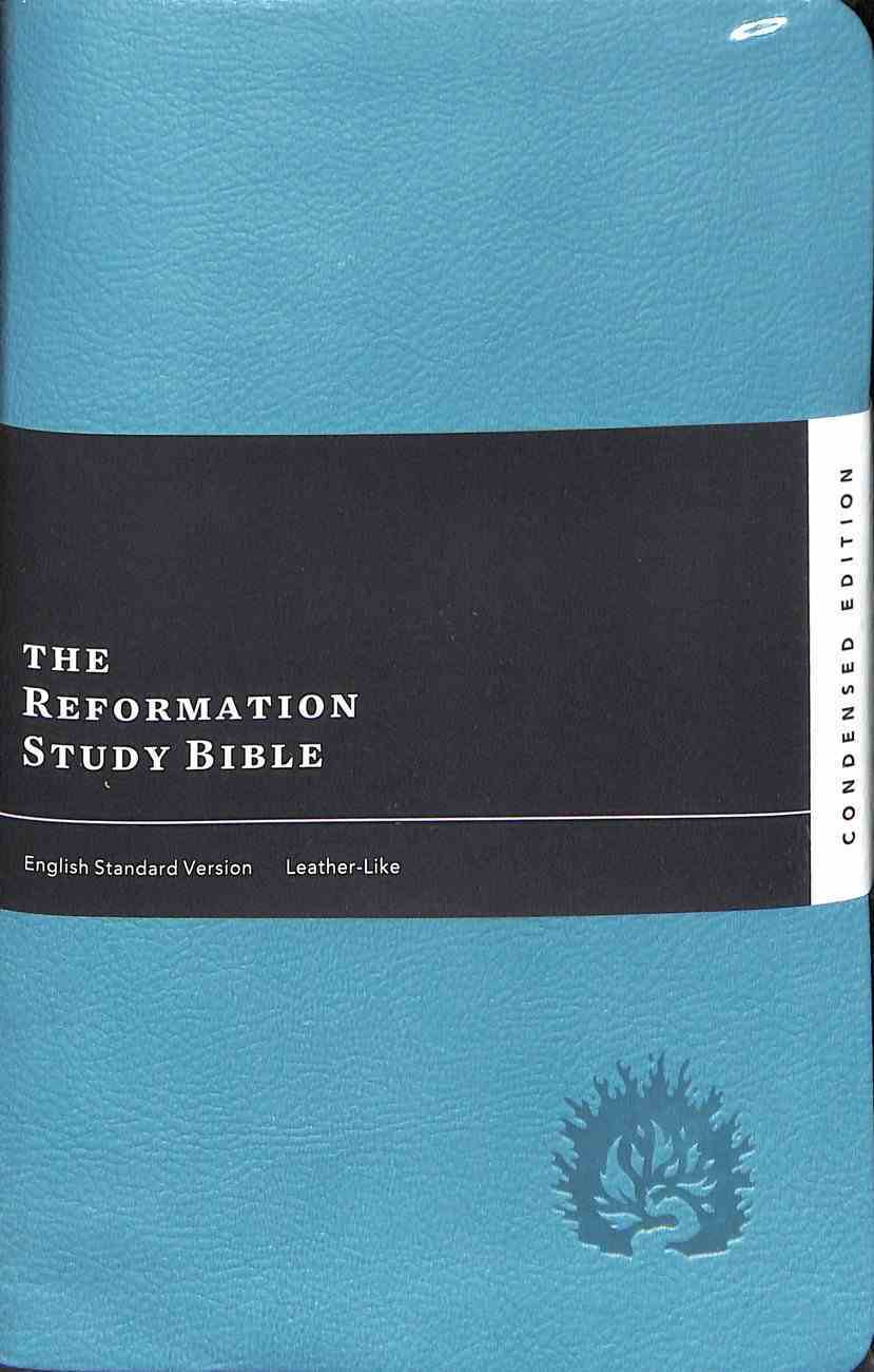 ESV Reformation Study Bible Condensed Edition Turquoise Imitation Leather