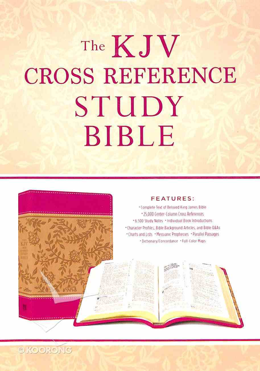 KJV Cross Reference Study Bible Compact Peony Blossoms (Red Letter Edition) Paperback