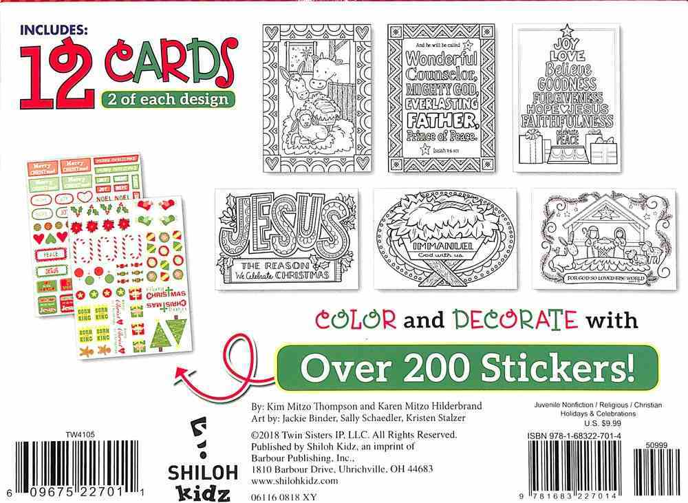Create Your Own Christmas Cards Activity Box General Gift