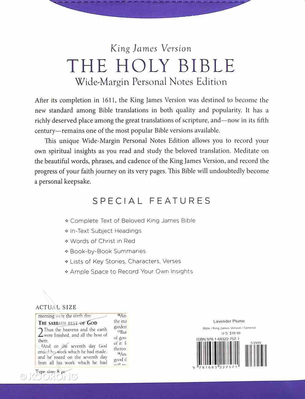 KJV Holy Bible Wide-Margin Personal Notes Edition Lavender Plume Imitation Leather
