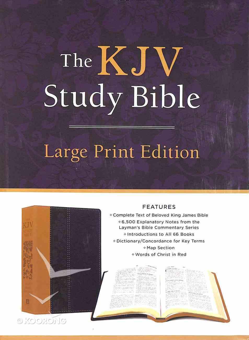 KJV Study Bible Large Print Violet Floret (Red Letter Edition) Imitation Leather