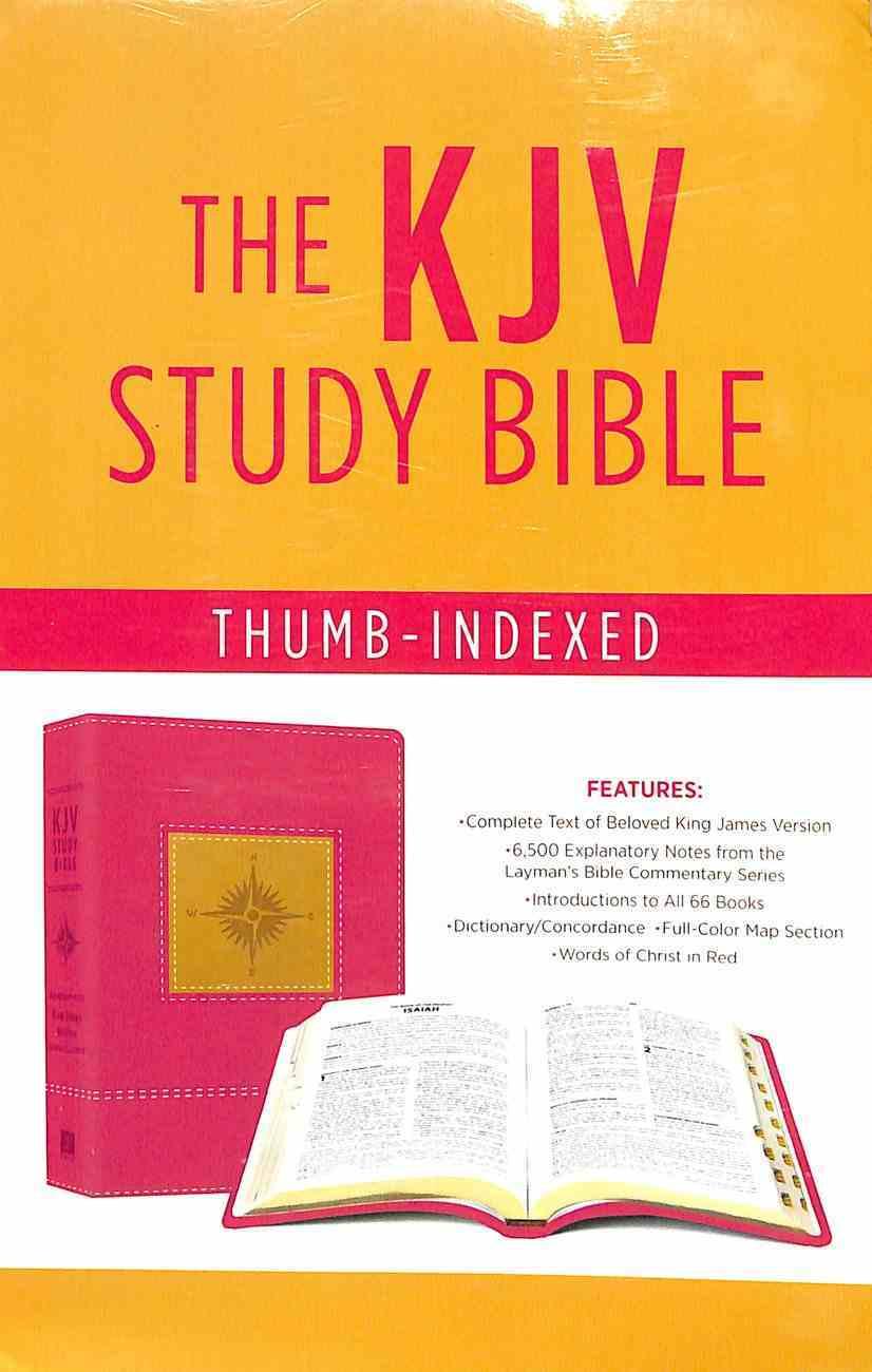 KJV Go-Anywhere Study Bible Primrose Compass Imitation Leather