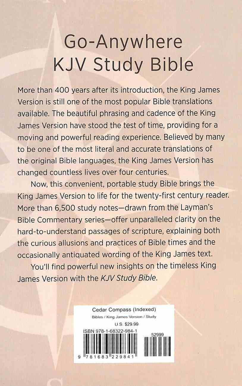 KJV Go-Anywhere Study Bible Cedar Compass Imitation Leather