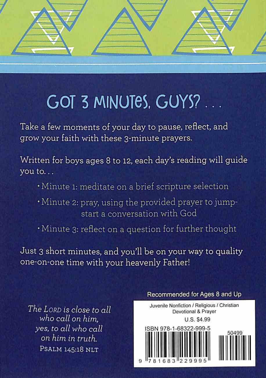 3-Minute Prayers For Boys Paperback