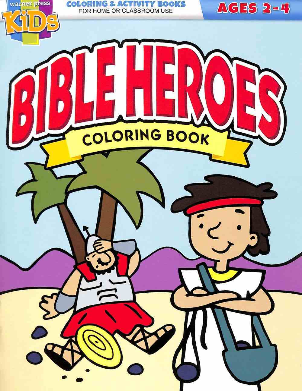 Bible Heroes Coloring Book (Reproducible) (Ages 2-4) (Warner Press Colouring & Activity Books Series) Paperback