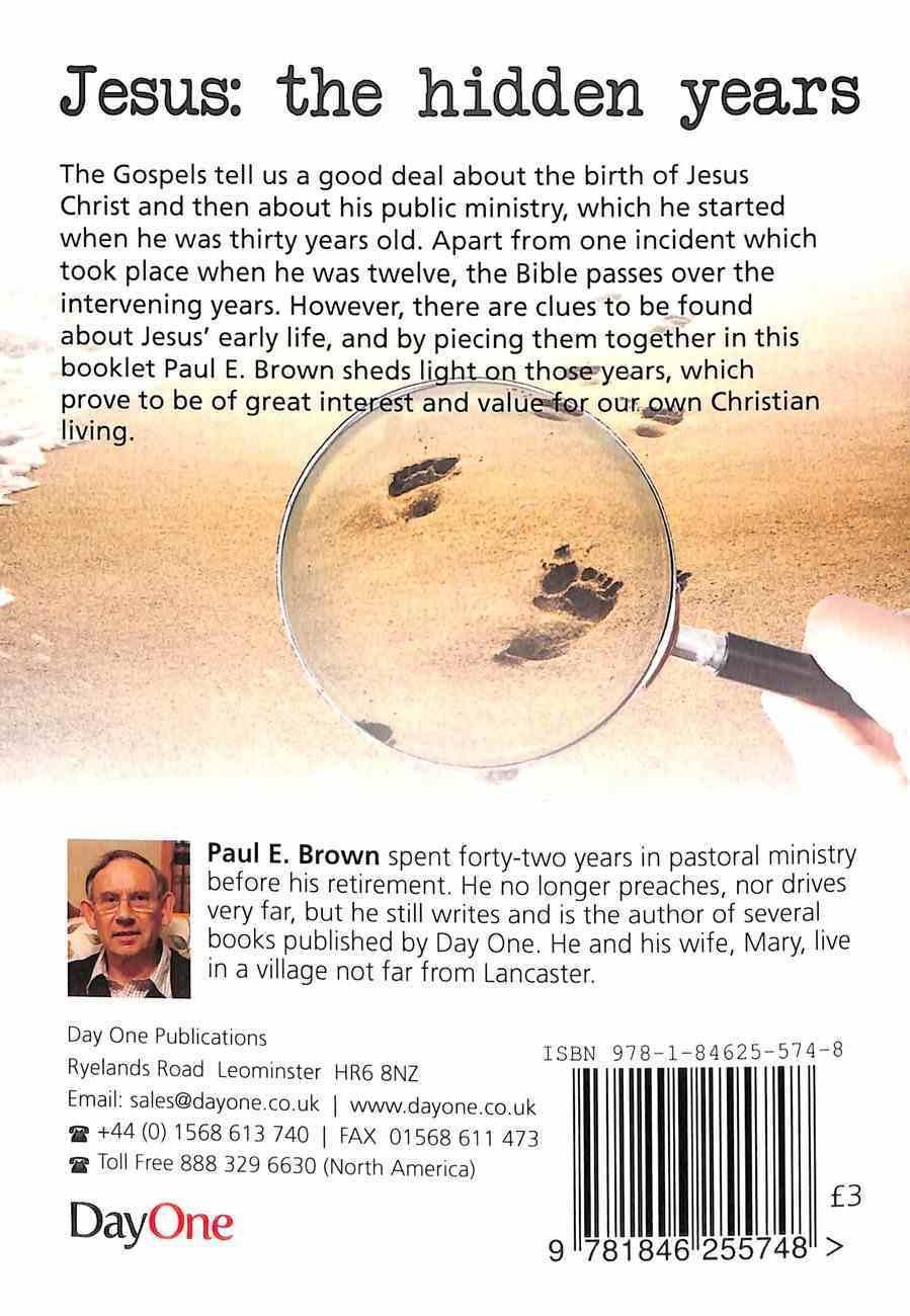 Jesus - the Hidden Years Paperback