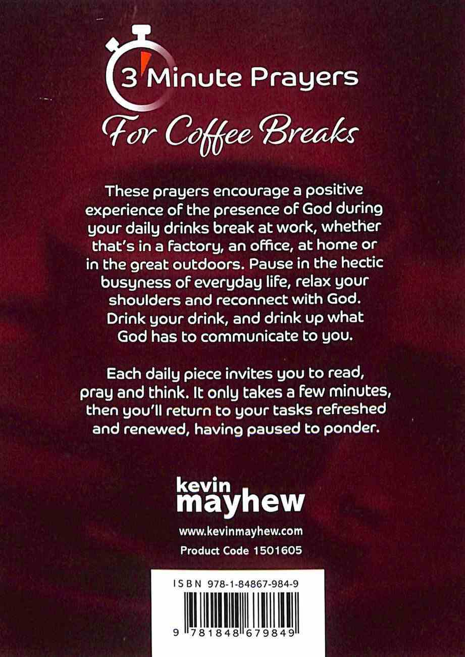 3-Minute Prayers For Coffee Breaks Paperback