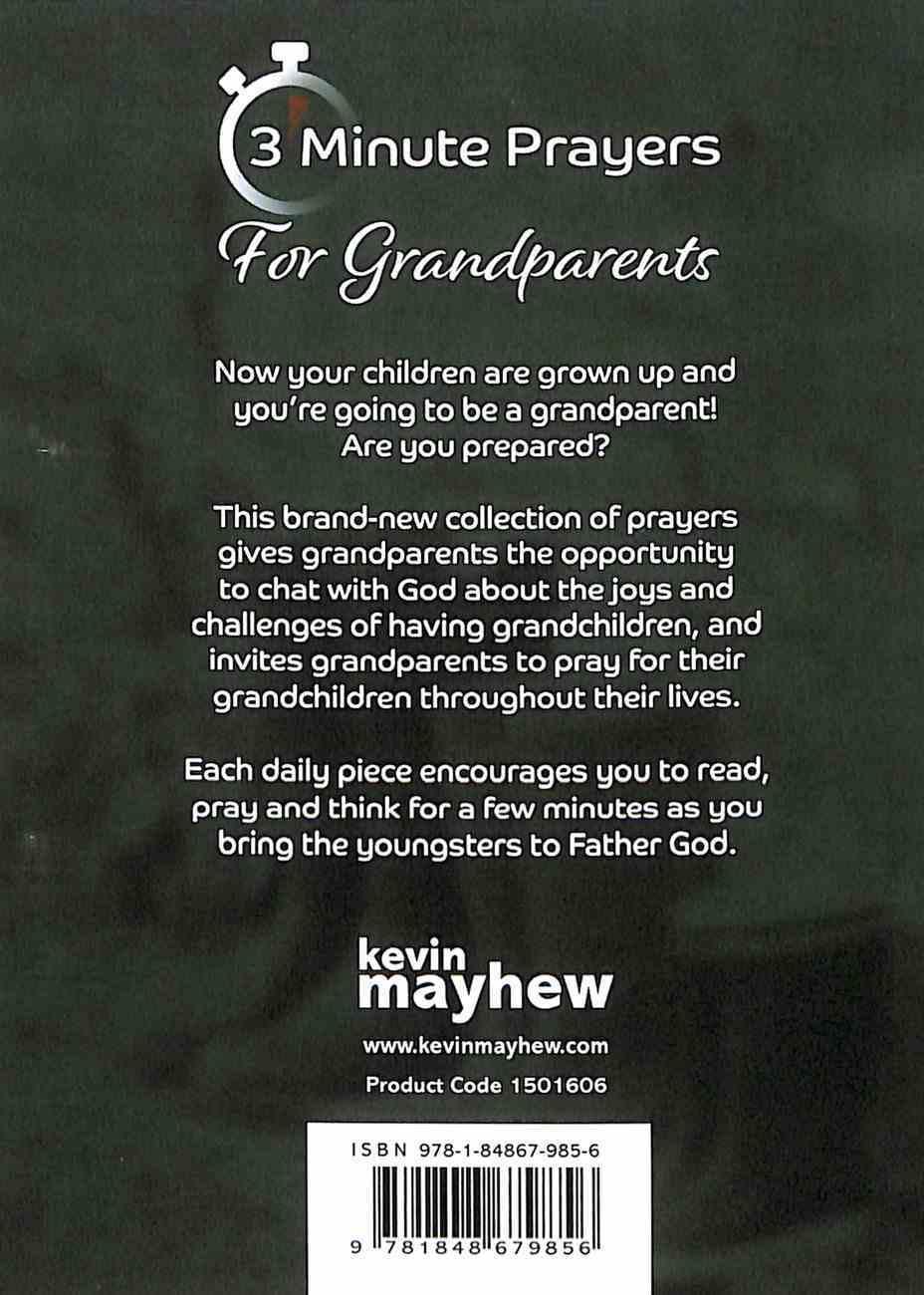 3-Minute Prayers For Grandparents Paperback