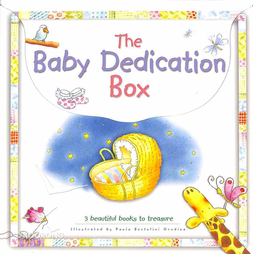 Baby Dedication Box (Incl: Baby's Bible Stories; Baby's First Prayers; My Baby Record Book) Box