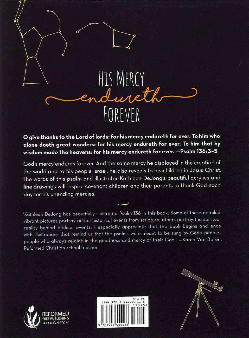 His Mercy Endureth Forever: Psalm 136 (Kjv) Hardback