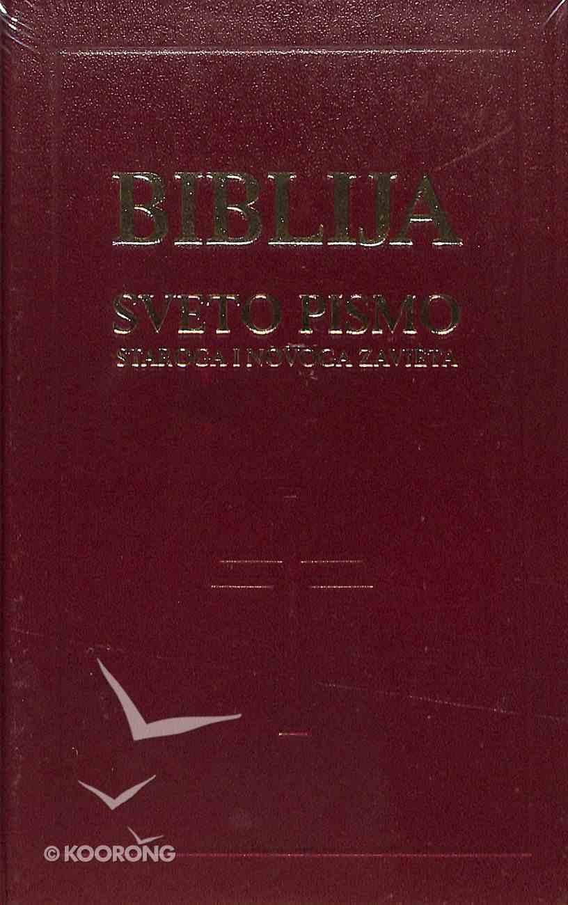Croatian Bible Saric Catholic Pew Bible Red Hardback