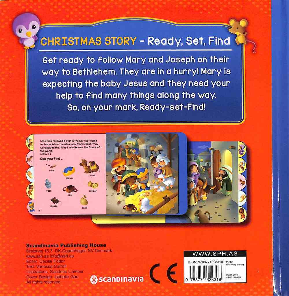 Christmas Story (Ready, Set, Find Series) Board Book