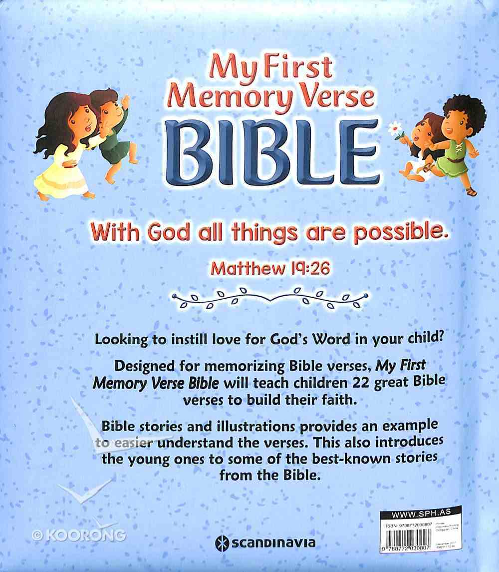 My First Memory Verse Bible Padded Board Book