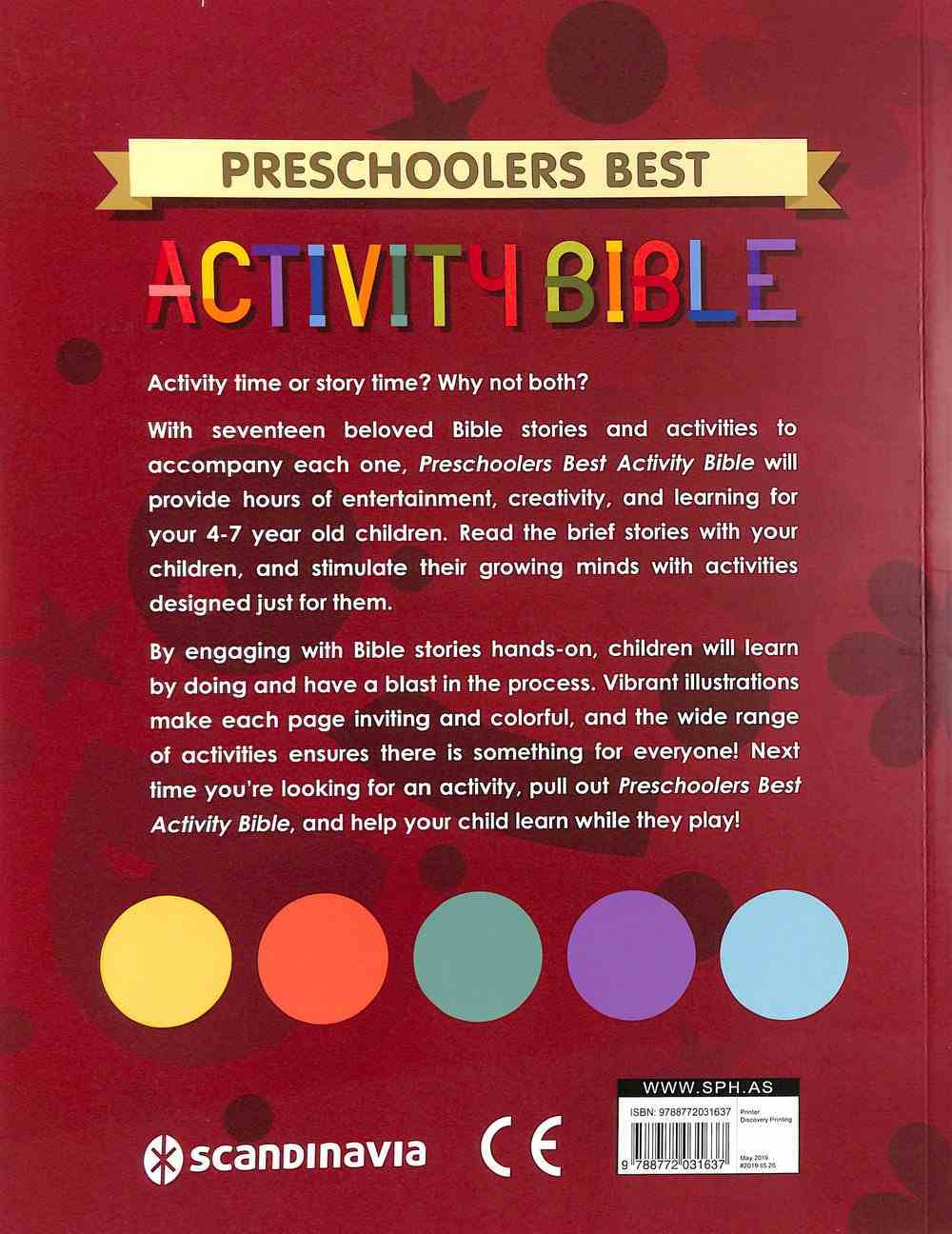 Preschoolers Best Activity Bible (With 4 Pages Of Stickers) Paperback