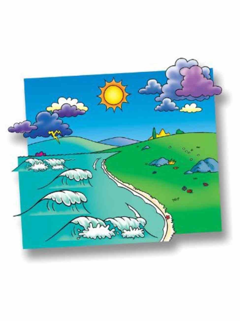 Meadow Flannelboard & Ocean Overlay (Beginner's Bible In Felt Series) Flannelgraph