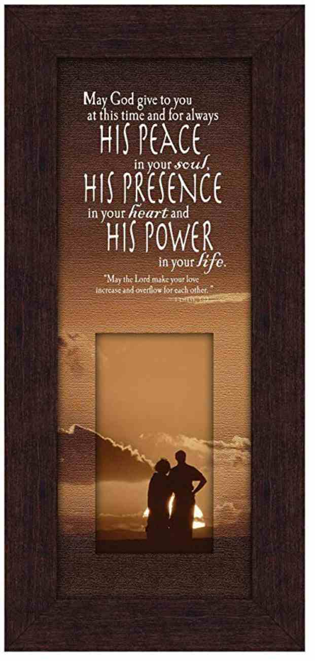 Life in Focus Mdf Framed Art: His Peace, His Presence, His Power Plaque