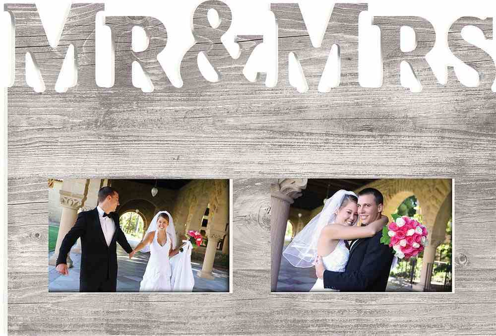 Photo Frame: Mr & Mrs (Holds 2 4x6 Photos) Homeware