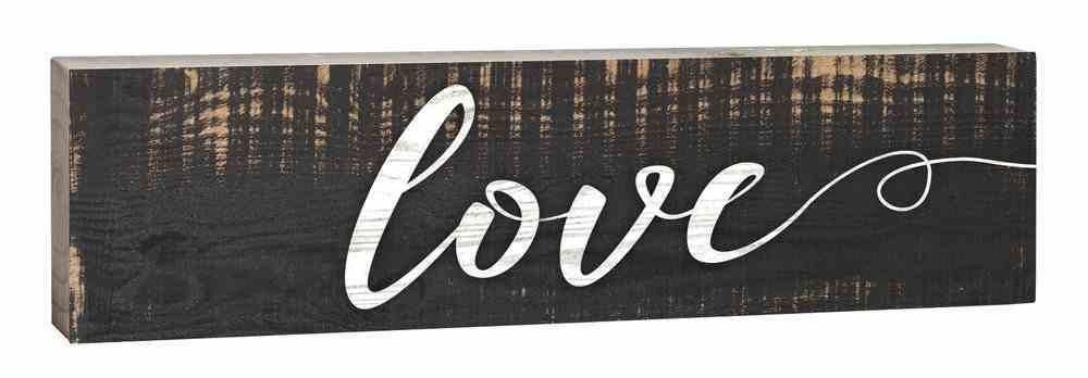 Tabletop Decor: Love, Small Pine Sign Plaque