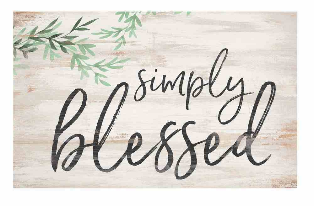 Panel Wall Art: Simply Blessed Plaque