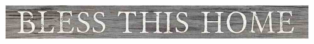Tabletop Decor: Bless This Home, Small Pine Sign Plaque