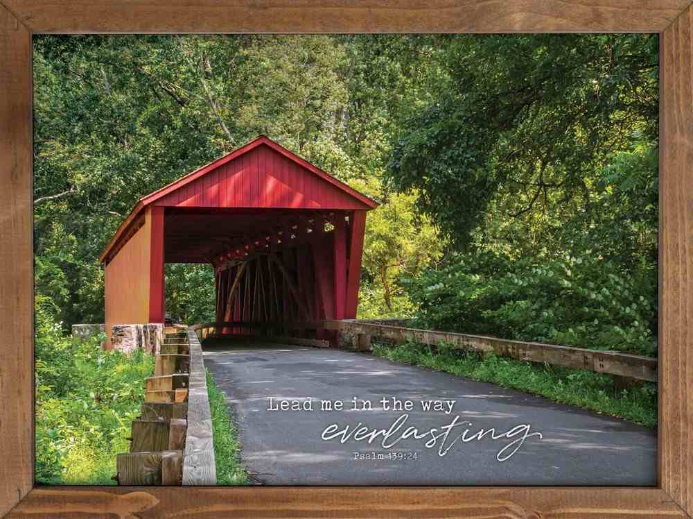 Wall Art: Lead Me in the Way Everlasting Plaque