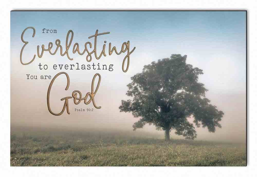 Carved Wall Art: From Everlasting to Everlasting You Are God Plaque