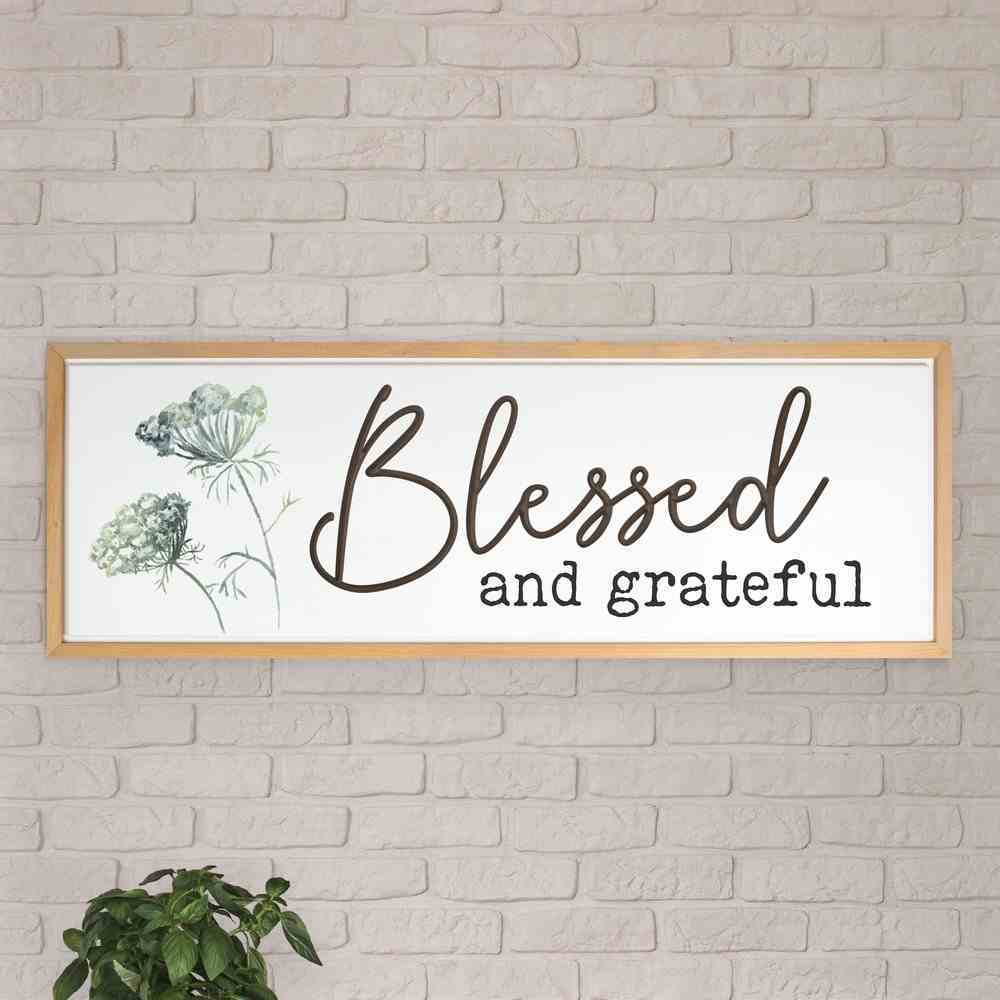 Carved Wall Art: Blessed and Grateful Plaque