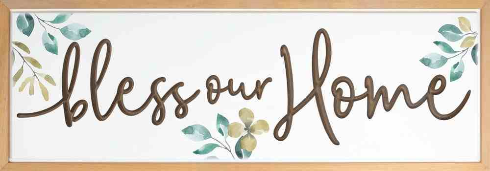 Carved Wall Art: Bless Our Home Plaque