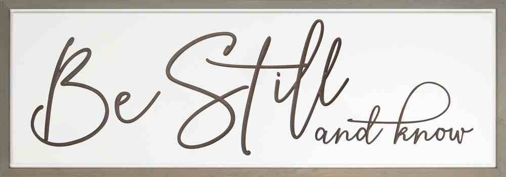 Carved Wall Art: Be Still and Know Plaque