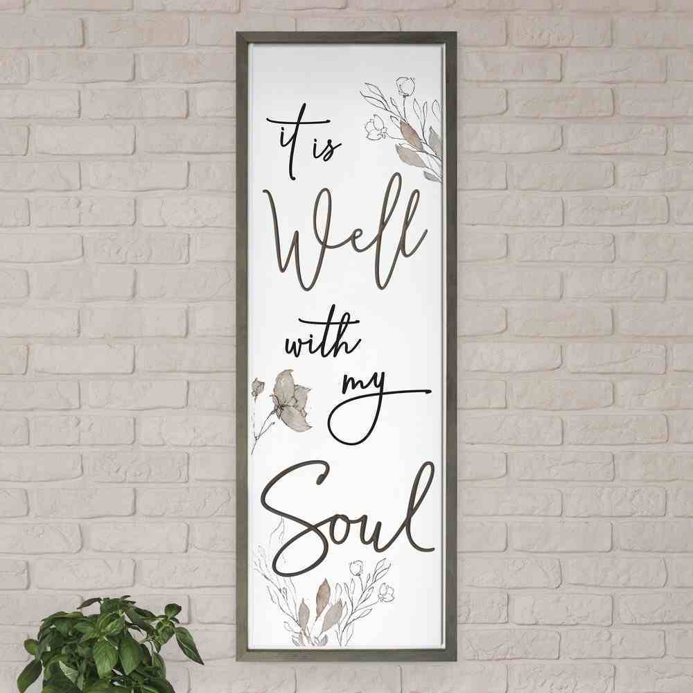 Carved Wall Art: It is Well With My Soul Plaque