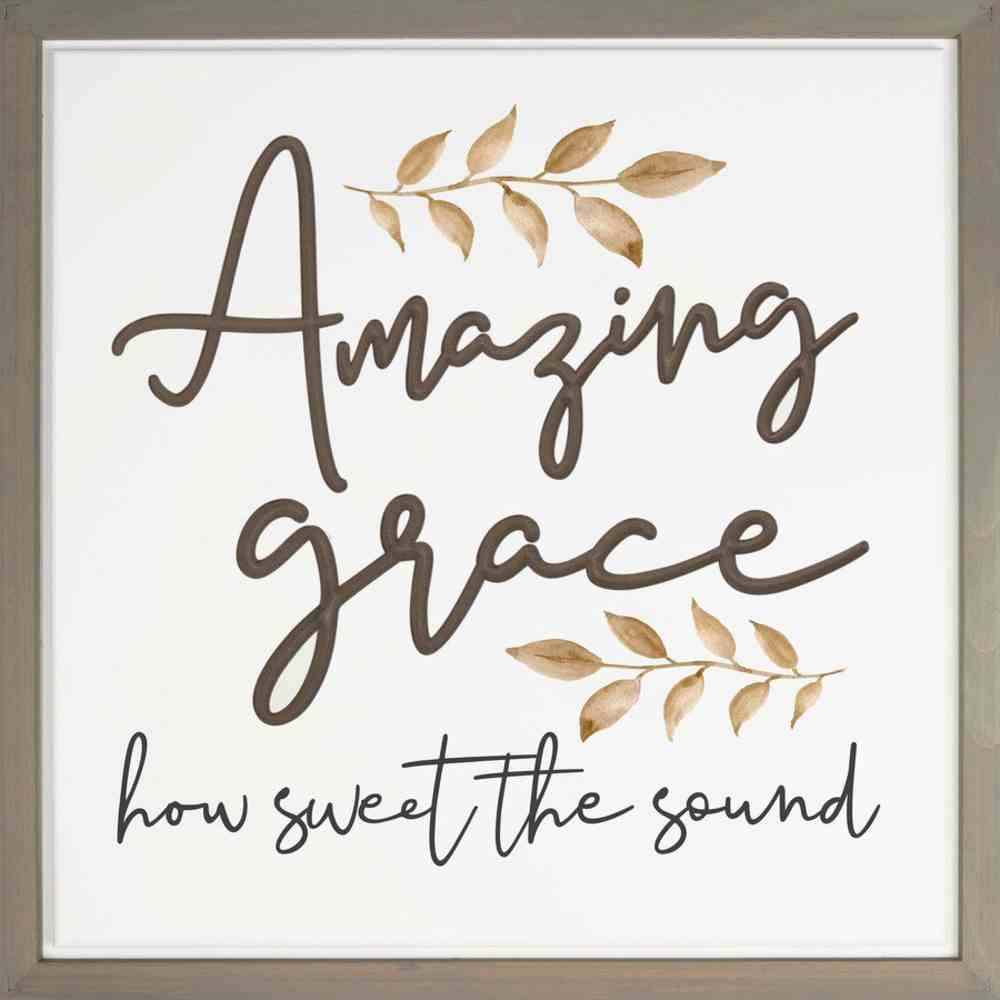 Carved Wall Art: Amazing Grace How Sweet the Sound Plaque