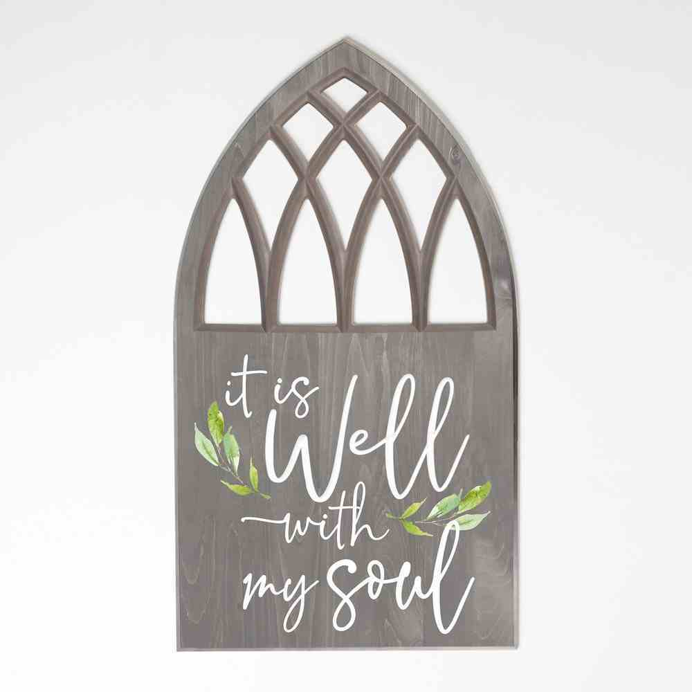 Carved Window Wall Art: It is Well With My Soul Plaque