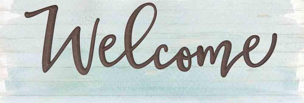 Carved Sign: Coastal Welcome Homeware