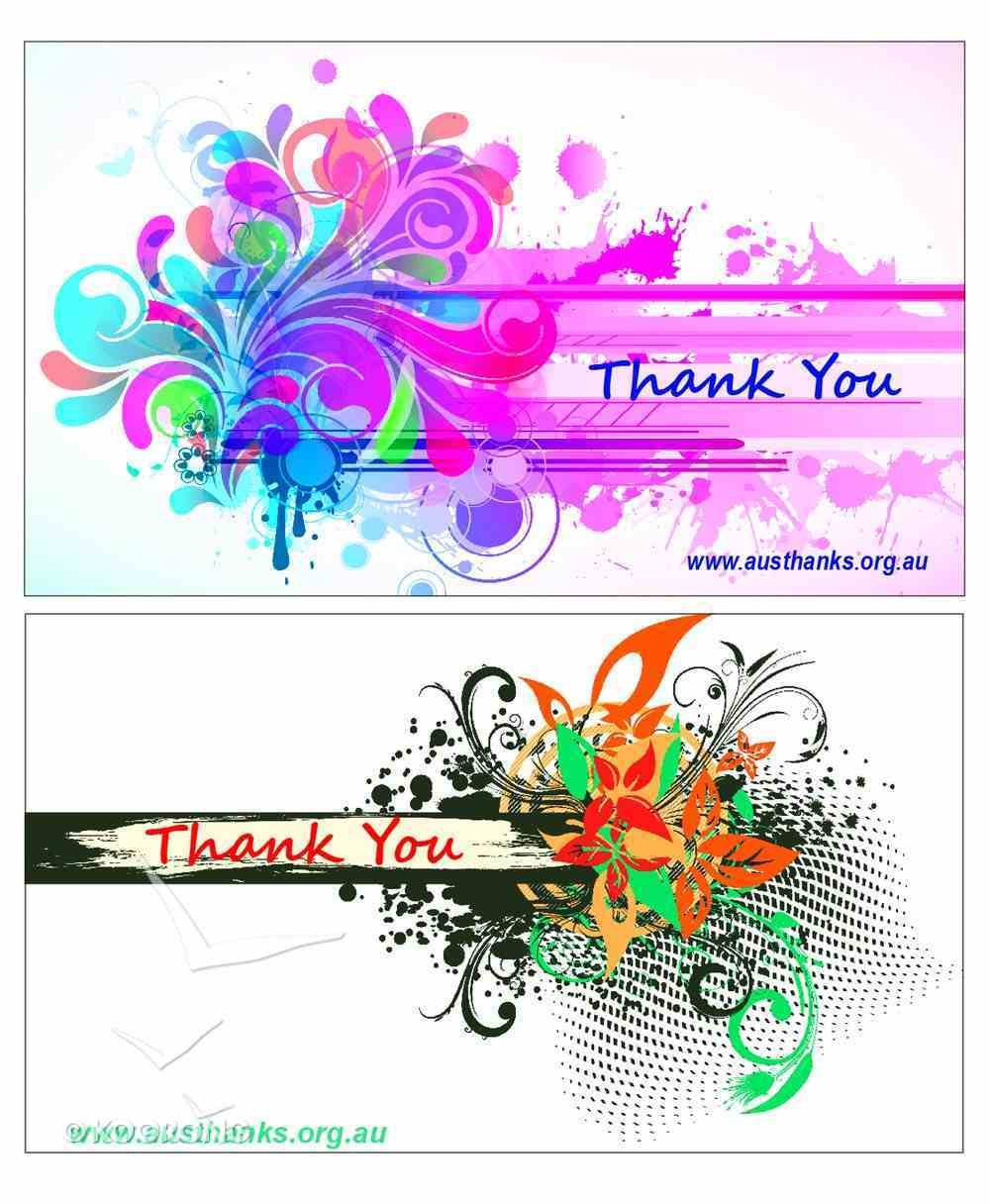 National Day of Thanks Mini Thank You Cards Abstract (30 Cards 2 Designs) Cards