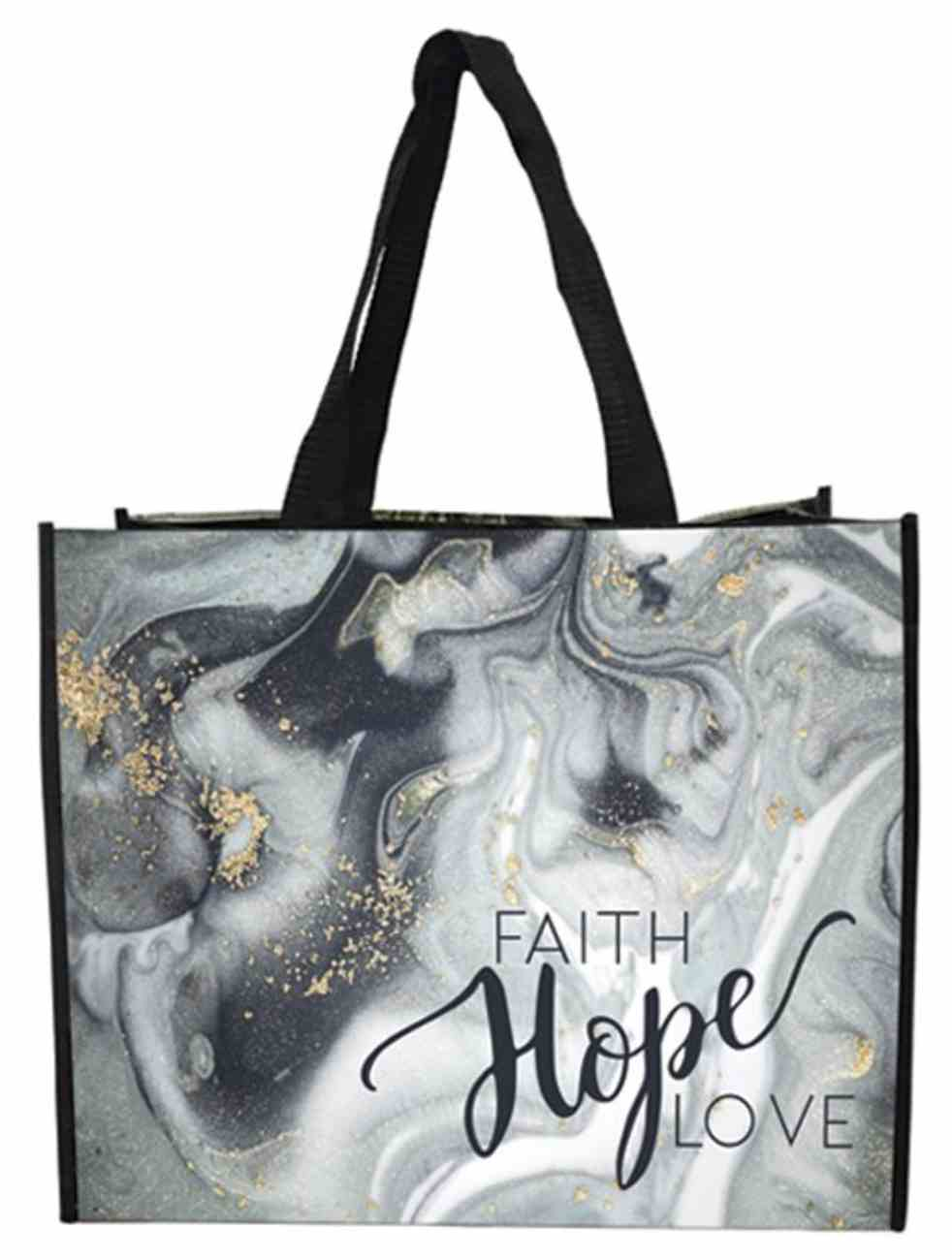 Non-Woven Tote Bag: Faith Hope Love Soft Goods