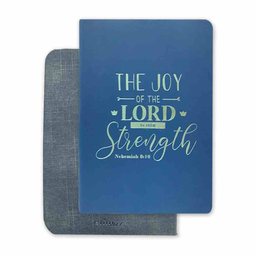 Deluxe 2 Tone Flex Journal: The Joy of the Lord is Our Strength Imitation Leather
