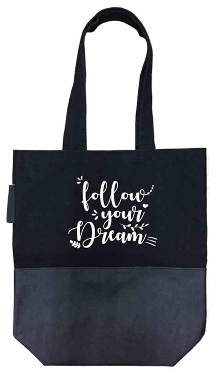 Canvas Tote Bag: Follow Your Dream Soft Goods