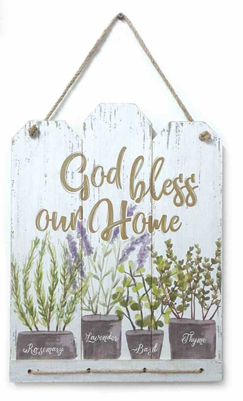 Mdf Wall Art: God Bless Our Home Plaque