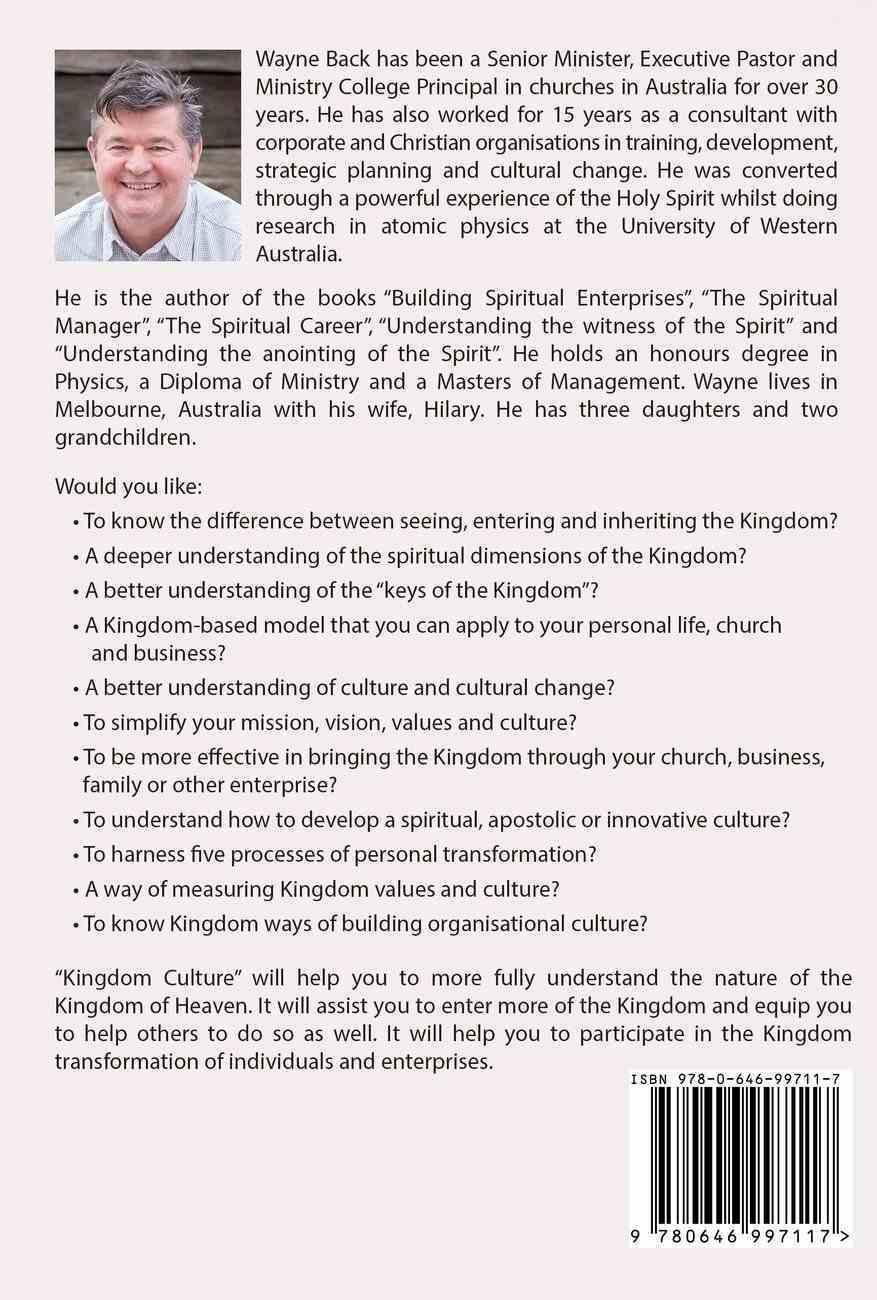 Kingdom Culture: Transforming Individuals and Communities Paperback