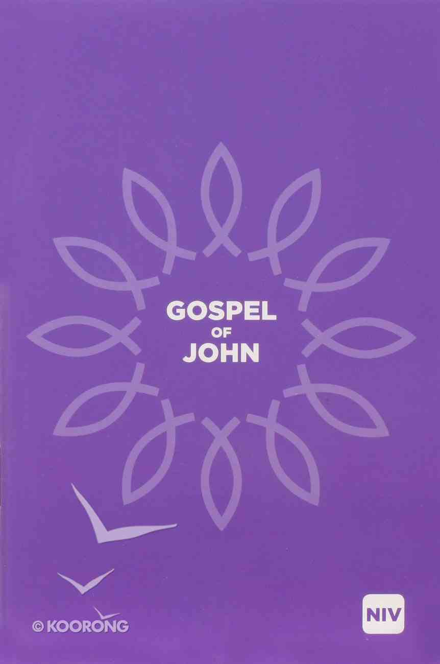 NIV Gospel of John Black Letter Paperback
