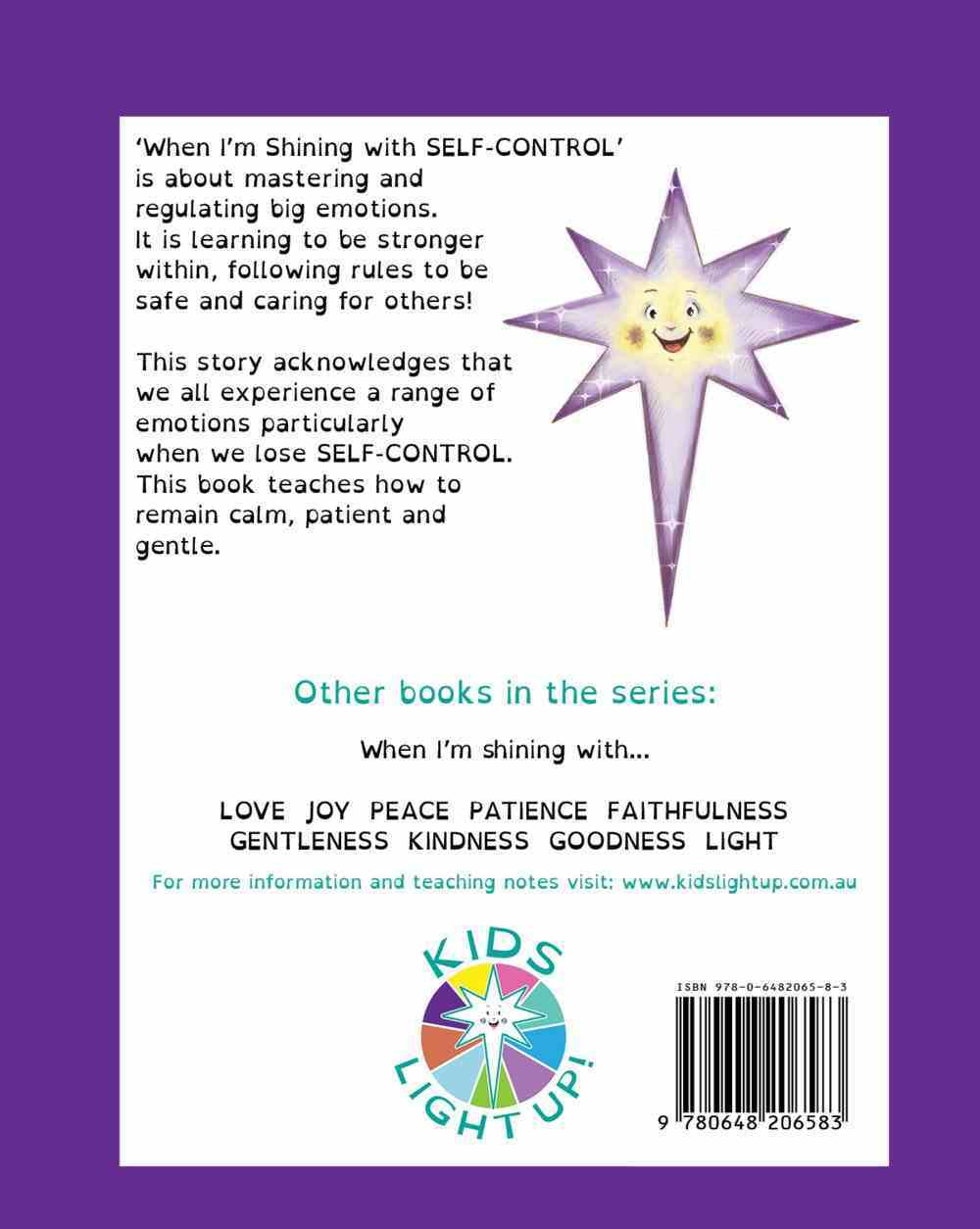 When I'm Shining With Self-Control (When I'm Shining With... Series) Paperback