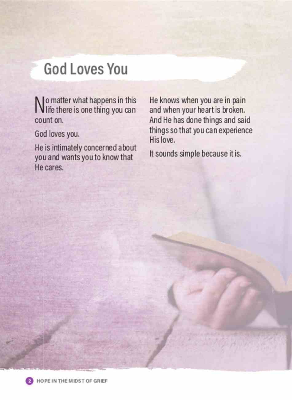 Hope in the Midst of Grief (#02 in The God Quest Series) Booklet
