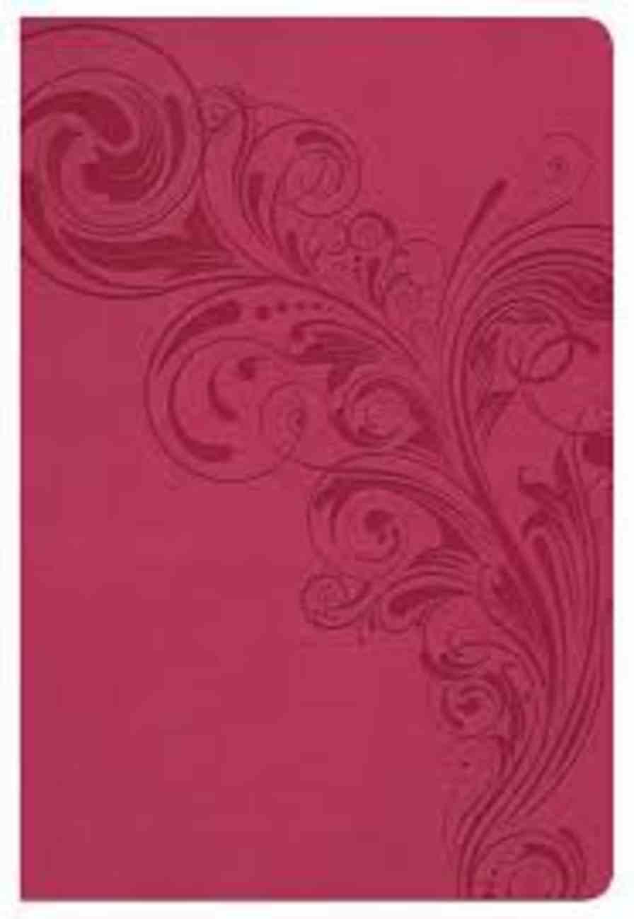 KJV Large Print Personal Reference Bible Pink Imitation Leather