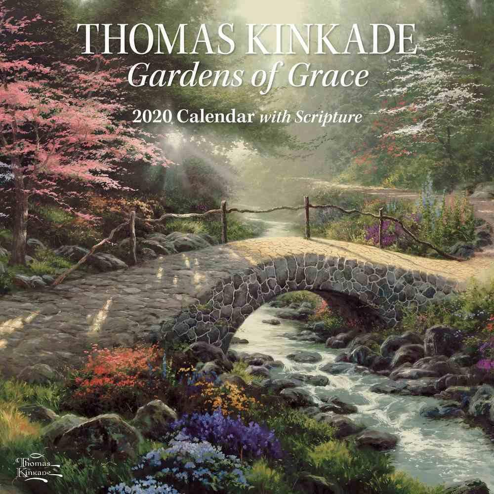 2020 Wall Calendar: Thomas Kinkade Gardens of Grace With Scripture Calendar
