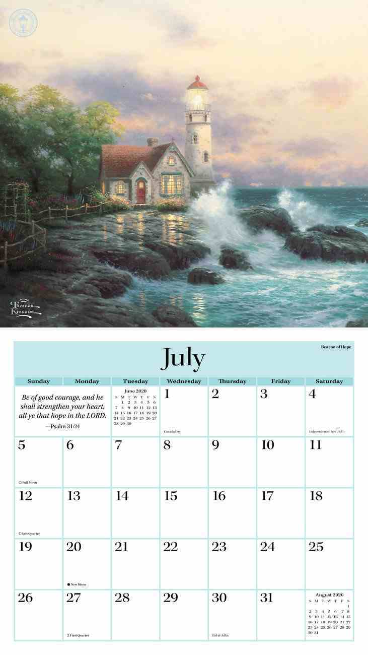 2020 Wall Calendar: Thomas Kinkade Painter of Light With Scripture Calendar