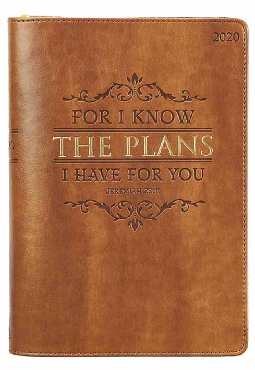 2020 Executive 12-Month Diary/Planner: For I Know the Plans I Have For You, Brown (Jeremiah 29:11) Imitation Leather